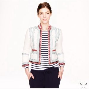 J. Crew Jackets & Coats - J.Crew Collection embroidered blazer